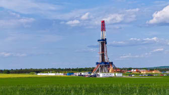 Shale gas drilling in the province of Lublin, Poland.