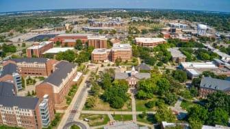 Aerial View of Wichita State University during Summer Break