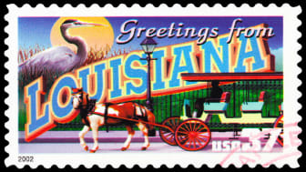 picture of louisiana stamp