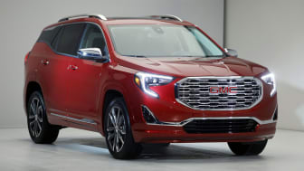 DETROIT, MI - JANUARY 8: The 2018 GMC Terrain Denali is shown at its reveal at the 2017 North American International Auto Show on January 8, 2017 in Detroit, Michigan. Approximately 5000 jour