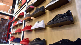 PHILADELPHIA, PA - JULY 15:Puma sneakers on display at the Meek Mill debut of Dreamchasers x PUMA Collab at New Puma Lab powered by Foot Locker at Roosevelt Mall on July 15, 2016 in Philadelp