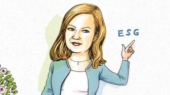 Photo-illustration of ESG investor Katherine Collins