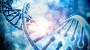 3d render of dna structure, abstractbackground