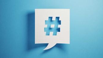 Concept art of a social hashtag