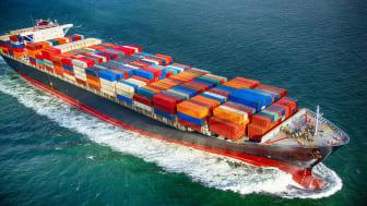 sea bearing cargo ship