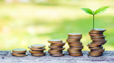 photo illustration of growth from money