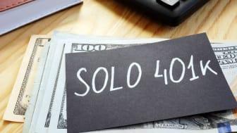 Picture of Solo 401(k) written on chalkboard