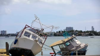 Photo of beached fishing vessels