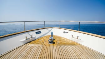 The deck of a luxury boat