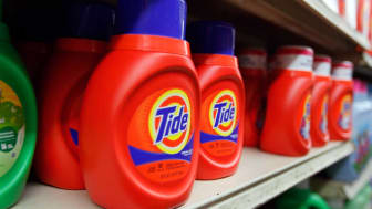MIAMI, FL - MARCH 13:Tide laundry detergent is seen on a store shelf on March 13, 2012 in Miami, Florida. It was recently reported that the theft and black market re-sale of Tide laundry dete