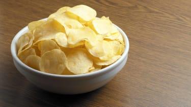 bowl of plain potato chips