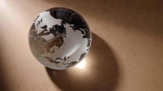A glass globe