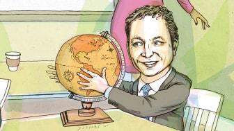 Photo-illustration of Oakmark International's David Herro