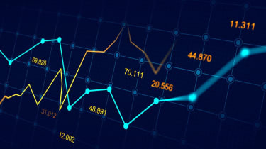 Stock market or forex trading graph in graphic concept suitable for financial investment or Economic trends business idea and all art work design. Abstract finance background (Stock market or