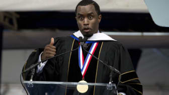 Entertainer and entrepreneur Sean Combs delivers Howard University's commencement speech during the 2014 Howard University graduation ceremony in Washington, on Saturday, May 10, 2014. Combs