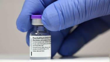 Vial of Pfizer-BioNTech COVID-19 vaccine