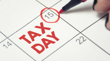 Picture of Tax Day Written on Calendar