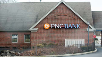 Philadelphia, Pennsylvania, March 3, 2018:PNC Bank exterior and sign. PNC Financial Services Group, Inc. is a financial services corporation.
