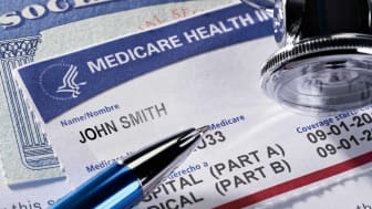A Medicare and Social Security card