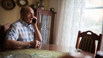Senior man on cell phone