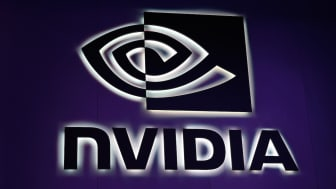 LAS VEGAS, NV - JANUARY 05:An illuminated sign at the Nvidia booth is seen at CES 2017 at the Las Vegas Convention Center on January 5, 2017 in Las Vegas, Nevada. CES, the world's largest ann
