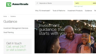 screenshot of TD Ameritrade