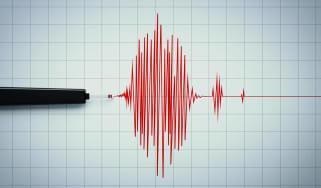 A seismograph of an earthquake.