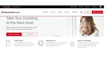 Interactive Brokers website graphic