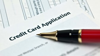 photo illustration of applying for credit card