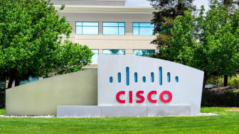A Cisco building sign