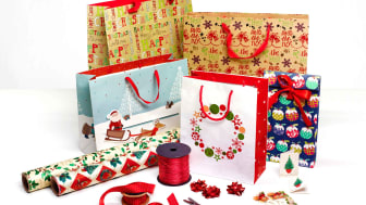 A collection of gift bags and wrap