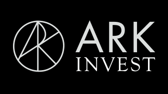 Ark Invest logo against a black background