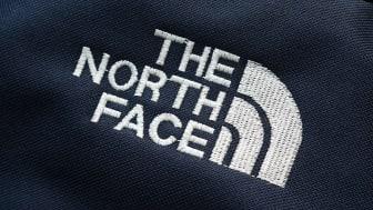 Close-up of a North Face logo