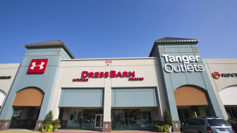 A view of the outside of the Tanger Outlets shopping center in Branson, Missouri