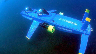 UNDATED PHOTO:The Deep Flight Aviator, a state-of-the-art winged submersible designed to fly underwater, is seen during a test mission in this undated photo. Graham Hawkes, an internationally