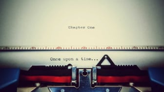 """picture of typewriter with """"once upon a time"""" typed on the page"""