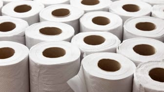 Lots of toilet paper rolls