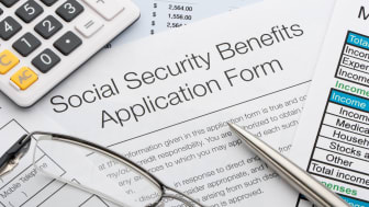 picture of Social Security benefits application form