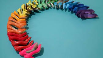 An array of shoes of all types spread out