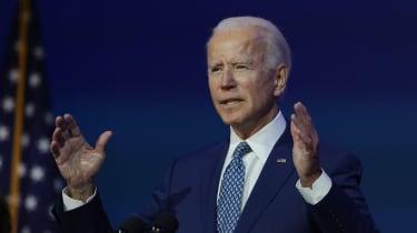 photo of Joe Biden giving speech