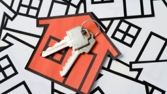 Key and a home sign, Real Estate Concept