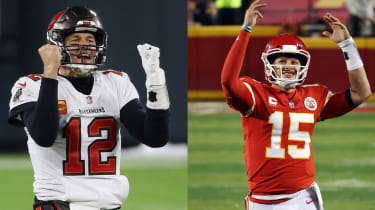 pictures of Tom Brady and Patrick Mahomes