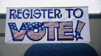 photo of get out the vote sign