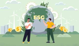 illustration of environmental, social and governance investing