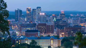 Birmingham, AL city skyline