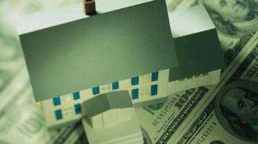 Model home on money