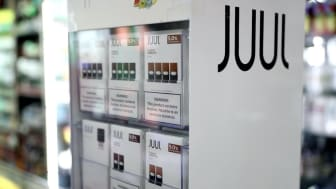 SAN FRANCISCO, CALIFORNIA - OCTOBER 17: Juul products are displayed at Smoke and Gift Shop on October 17, 2019 in San Francisco, California. Juul announced plans to immediately suspend sales