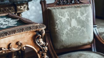 A closeup of old furniture