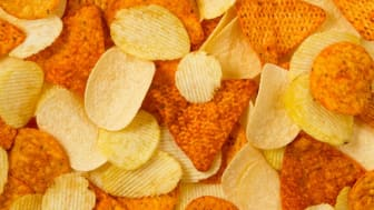 A close-up of a snack mix