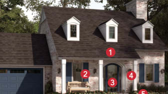 a numbered layout of an exterior of a home
